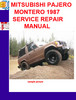 Thumbnail MITSUBISHI PAJERO MONTERO 1987 SERVICE REPAIR MANUAL