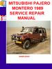 Thumbnail MITSUBISHI PAJERO MONTERO 1989 SERVICE REPAIR MANUAL