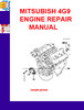 Thumbnail MITSUBISH 4G9 ENGINE REPAIR MANUAL