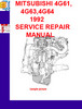 Thumbnail MITSUBISHI 4G61,4G63,4G64 1992 SERVICE REPAIR MANUAL