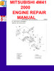 Thumbnail MITSUBISHI 4M41 2000 ENGINE REPAIR MANUAL