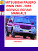 Thumbnail MITSUBISHI PAJERO PININ 2000 - 2003 SERVICE REPAIR MANUALS