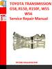 Thumbnail TOYOTA TRANSMISSION G58, R150, R150F, W55, W56 Service Repai