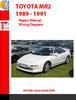 Thumbnail  TOYOTA MR2 1989 - 1991 REPAIR MANUAL WIRING DIAGRAM