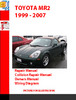 Thumbnail TOYOTA MR2 1999 - 2007 OWNERS, REPAIR, WIRING, COLLISION RE