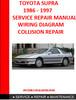 Thumbnail TOYOTA SUPRA 1986 - 1997 REPAIR MANUALS, WIRING DIAGRAM COLL