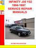 Thumbnail INFINITY J30 Y32 1994-1997 SERVICE REPAIR MANUALS