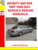 Thumbnail INFINITY Q45 R50 1997-1998 2001 SERVICE REPAIR MANUALS