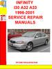 Thumbnail INFINITY I30 A32 A33 1996-2001 SERVICE REPAIR MANUALS