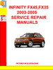 Thumbnail INFINITY FX45,FX35 2003-2005 SERVICE REPAIR MANUALS