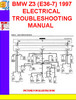 Thumbnail BMW Z3 (E36-7) 1996-1997 ELECTRICAL TROUBLESHOOTING MANUAL