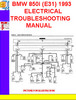 Thumbnail BMW 850i (E31) 1992-1993 ELECTRICAL TROUBLESHOOTING MANUAL
