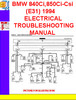 Thumbnail BMW 840Ci,850Ci-Csi (E31) 1993-1994 ELECTRICAL TROUBLESHOOTI