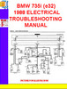 Thumbnail BMW 735i (e32) 1987-1988 ELECTRICAL TROUBLESHOOTING MANUAL