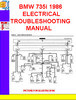 Thumbnail BMW 735i 1986 ELECTRICAL TROUBLESHOOTING MANUAL