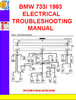 Thumbnail BMW 733i 1983 ELECTRICAL TROUBLESHOOTING MANUAL