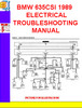 Thumbnail BMW 635CSI 1989 ELECTRICAL TROUBLESHOOTING MANUAL