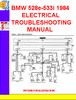 Thumbnail BMW 528e-533i 1984  ELECTRICAL TROUBLESHOOTING MANUAL