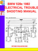 Thumbnail BMW 528e 1982 ELECTRICAL TROUBLESHOOTING MANUAL