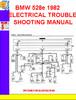 Thumbnail BMW 528e 1982 ELECTRICAL TROUBLESHOOTING MANUAL