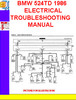 Thumbnail BMW 524TD 1986 ELECTRICAL TROUBLESHOOTING MANUAL