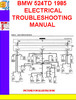 Thumbnail BMW 524TD 1985 ELECTRICAL TROUBLESHOOTING MANUAL