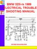Thumbnail BMW 325i-is 1989 ELECTRICAL TROUBLESHOOTING MANUAL