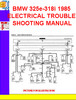 Thumbnail BMW 325e-318i 1985 ELECTRICAL TROUBLESHOOTING MANUAL