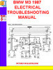 Thumbnail BMW M3 1987 ELECTRICAL TROUBLESHOOTING MANUAL