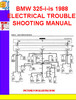 Thumbnail BMW 325-i-is 1988 ELECTRICAL TROUBLESHOOTING MANUAL