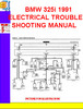 Thumbnail BMW 325i 1991 ELECTRICAL TROUBLESHOOTING MANUAL