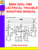 Thumbnail BMW 325ix 1990 ELECTRICAL TROUBLESHOOTING MANUAL