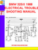 Thumbnail BMW 325iX 1988 ELECTRICAL TROUBLESHOOTING MANUAL
