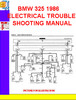 Thumbnail BMW 325 1986 ELECTRICAL TROUBLESHOOTING MANUAL