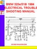 Thumbnail BMW 325e-318i 1984 ELECTRICAL TROUBLESHOOTING MANUAL