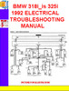 Thumbnail BMW 318i_is 325i 1992 ELECTRICAL TROUBLESHOOTING MANUAL