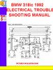 Thumbnail BMW 318ic 1992 ELECTRICAL TROUBLESHOOTING MANUAL