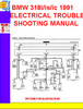 Thumbnail BMW 318i_is_ic 1991 ELECTRICAL TROUBLESHOOTING MANUAL
