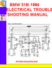 Thumbnail BMW 318i 1984 ELECTRICAL TROUBLESHOOTING MANUAL