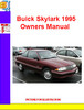 Thumbnail Buick Skylark 1995 Owners Manual