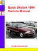 Thumbnail Buick Skylark 1994 Owners Manual