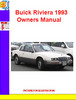 Thumbnail Buick Riviera 1993 Owners Manual