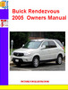 Thumbnail Buick Rendezvous 2005  Owners Manual