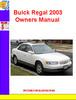 Thumbnail Buick Regal 2003 Owners Manual