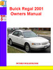 Thumbnail Buick Regal 2001 Owners Manual