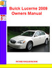 Thumbnail Buick Lucerne 2009 Owners Manual