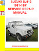 Thumbnail SUZUKI SJ413 1981-1991 SERVICE REPAIR MANUAL