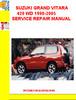 Thumbnail SUZUKI GRAND VITARA 420 WD 1998-2005 SERVICE REPAIR MANUAL