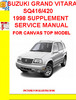 Thumbnail SUZUKI GRAND VITARA SQ416/420 1998 SUPPLEMENT SERVICE MANUAL