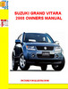 SUZUKI GRAND VITARA 2008 OWNERS MANUAL